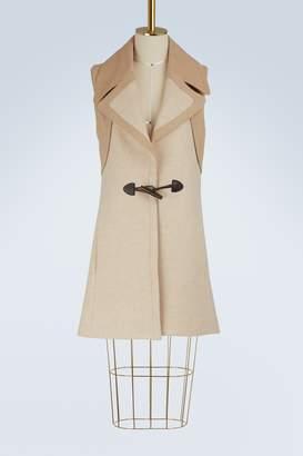 See by Chloe Wool sleeveless duffle coat