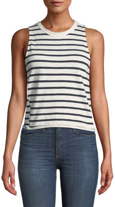 Rag & Bone Halsey Striped Cotton Tank Top