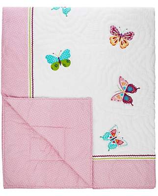 John Lewis & Partners little home at Butterflies Quilted Bedspread