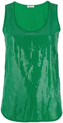 P.A.R.O.S.H. paillette sleeveless tank top