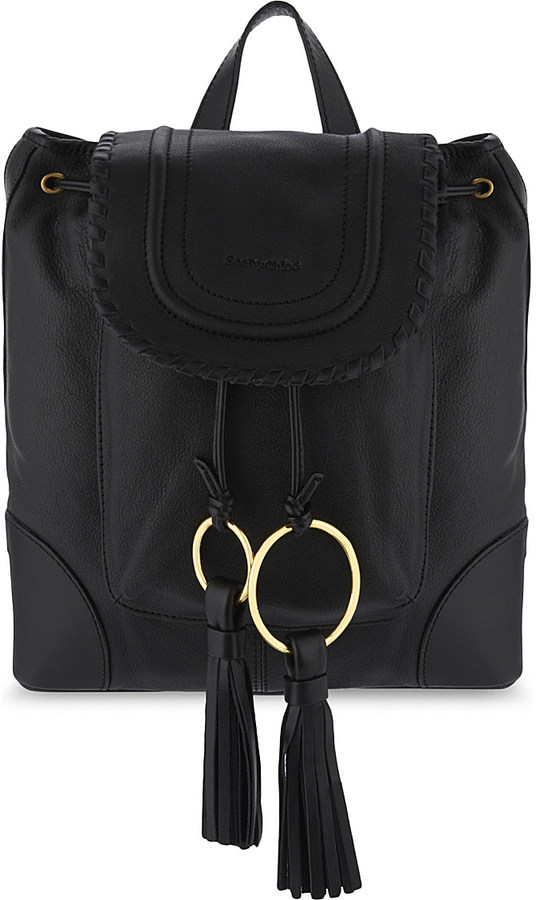 See By ChloeSee By Chloe Grained leather backpack