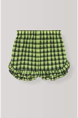 Ganni Seersucker Check Shorts