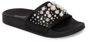 Women's Steve Madden Sandy Embellished Slide Sandal $59.95 thestylecure.com