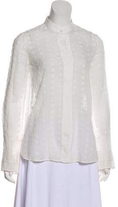 Chloé Eyelet Button-Up Top