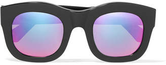 Illesteva Hamilton Square-frame Acetate Mirrored Sunglasses - Black