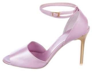 Giuseppe Zanotti Leather Mid-Heel Sandals