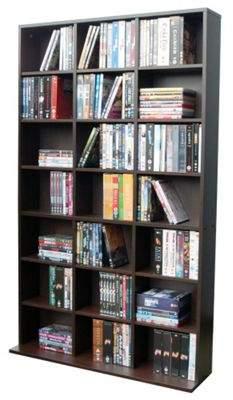 Pigeon WATSONS Watsons Hole - 588 Cd / 378 Dvd Blu-Ray Media Storage Unit - Dark Oak