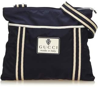 Gucci Vintage Striped Nylon Crossbody