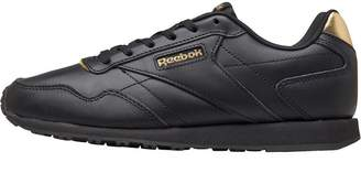 274d18ab34b Reebok Classics Womens Royal Glide LX Trainers Black Gold Metallic