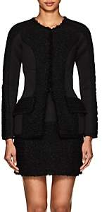 Alexander Wang Women's Neoprene & Tweed Slim Jacket - Black