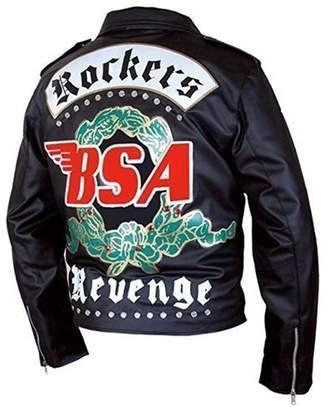 9cee3f7a950 The Custom Jacket BSA George Michael Faith Rockers Revenge Geniune  Motorcycle Leather Jacket (XXXL