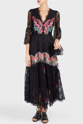 Temperley London Potion V-Neck Dress