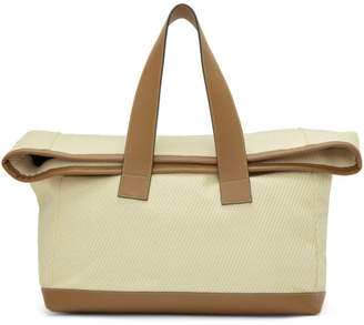 Acne Studios Off-White and Tan Weekender Tote