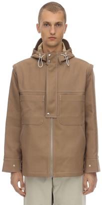 Jacquemus Hooded Cotton Blend Canvas Jacket