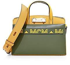 MCM Women's Mini Two-Tone Leather Horizontal Tote
