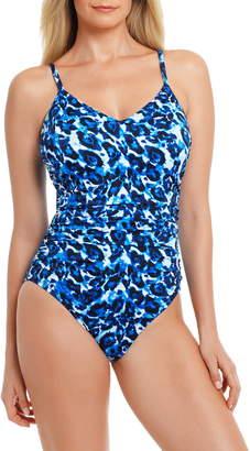 Magicsuit Blue Tide Mikki Leopard Print One-Piece Swimsuit