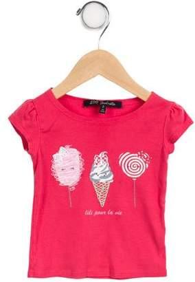 Lili Gaufrette Girls' Short Sleeve Top