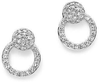 KC Designs 14K White Gold Diamond Mini Circle Earrings