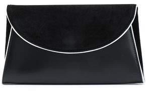 Diane von Furstenberg Mirrored-Leather Envelope Clutch