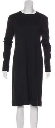 Maison Margiela Knit Long Sleeve Dress Green Knit Long Sleeve Dress
