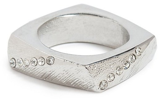 GUESS Silver-Tone Textured Ring