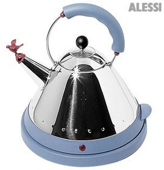 Alessi Blue Stainless Steel Cordless Electric Kettle