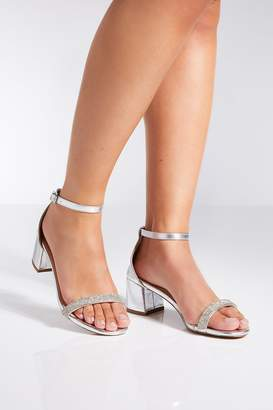 d6cf74951b0 Quiz Silver Heeled Sandals For Women - ShopStyle UK