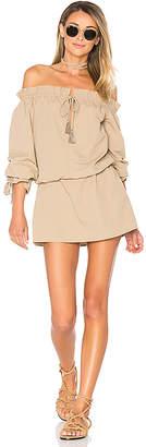 Tularosa x REVOLVE Falon Dress in Taupe $168 thestylecure.com