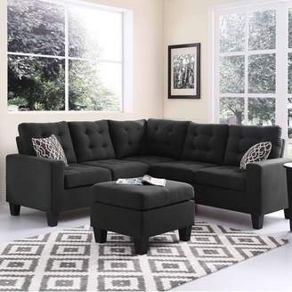 Andover Mills Pawnee Sectional with Ottoman