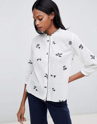 Whistles Embroidered Floral Shirt