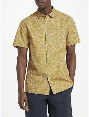 John Lewis Kin by Short Sleeve Camo Shirt, Orange