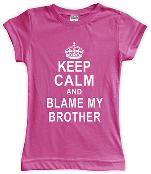 Fuchsia 'Blame My Brother' Fitted Tee - Toddler & Girls