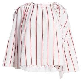 Calvin Klein Striped Wide-Sleeve Blouse