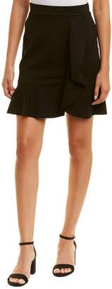Three Dots Ponte Ruffle Skirt