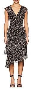 Barneys New York WOMEN'S RUFFLE FLORAL V-NECK DRESS