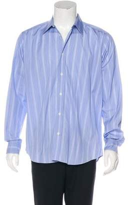 Hermes Woven Striped Dress Shirt