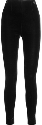 Balmain - Velvet Leggings - Black $1,930 thestylecure.com