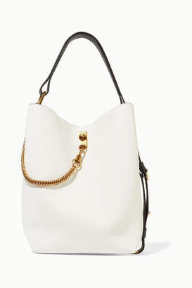 2c3267bea9de Givenchy Gv Bucket Textured-leather Shoulder Bag - White
