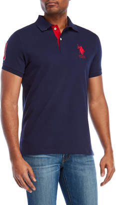 U.S. Polo Assn. Embroidered Logo Woven Slim Fit Polo