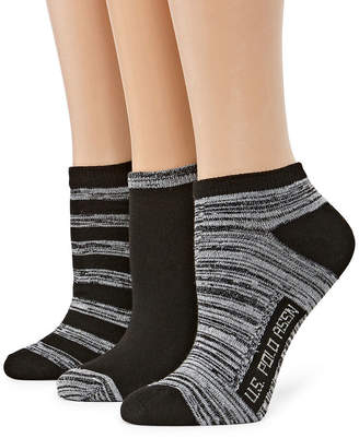 U.S. Polo Assn. 3 Pair Low Cut Socks - Womens