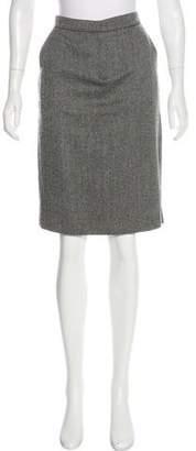 KORS Wool Herringbone Skirt