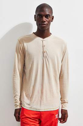 Urban Outfitters Burnout Long Sleeve Henley Tee