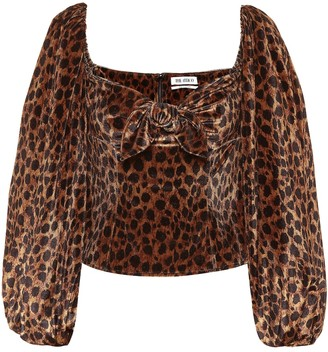 ATTICO The Leopard-print stretch-velvet top