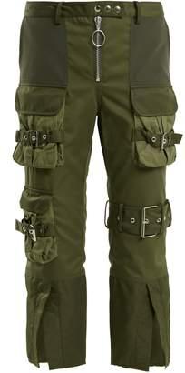 Marques Almeida MARQUES'ALMEIDA Mid-rise cropped military trousers