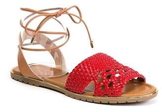 Ramarim Lace-Them-Up Woven Sandal