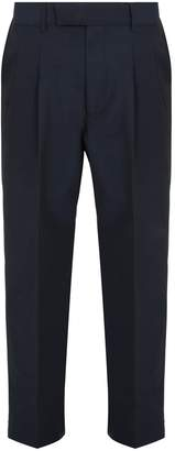Gucci Wide-leg cotton-blend trousers