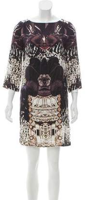 Mary Katrantzou Digital Print Silk Dress