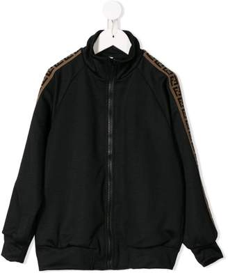 Fendi side panelled zipped sweatshirt