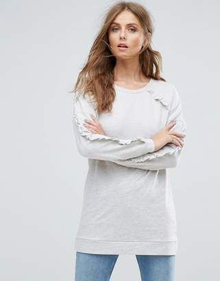 Only Gina Frill Long Sweatshirt