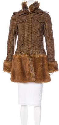 Chanel Fantasy Fur & Tweed Coat